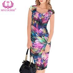 Find More Dresses Information about MYCOURSE Women's Elegant Floral Print Square Neck Tunic Sleeveless Casual Party Bodycon Stretch Fitted Dress Summer Slim Dresses,High Quality dress pleated,China dresses petites Suppliers, Cheap dress colors from MYCOURSE on Aliexpress.com