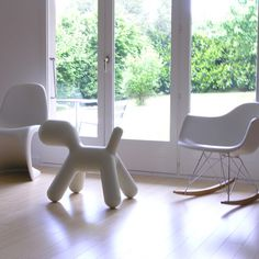 Me Too Puppy By Magis, Vitra Panton chair, Vitra Eames rocking chair