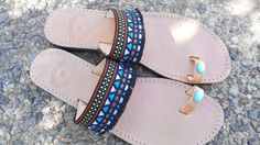 boho sandal by tsarouchacollection on Etsy