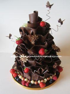 pastel de chocolate para boda - Buscar con Google