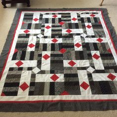 #26 of 2017 made by Sharon Theriault.   Pattern is Drop Diamonds from Cozy Quilt Designs