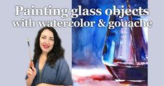 I posted a new video on Tummy Rubb Studio's YouTube channel (active link in bio) and the subject is very suitable for a Friday - how to paint a glass of wine with watercolor and gouache. Many artists find glass challenging to paint and it really is. I think the secret is to have enough contrast between the bright defined highlights and small dark areas. The video has the whole process step-by-step with a detailed explanation. Hope you check it out and let me know if you found it helpful! Happy F White Gouache, Figure Sketching, Learn To Paint, Objects, Studio, Learning, Drawings, Glass, Fictional Characters
