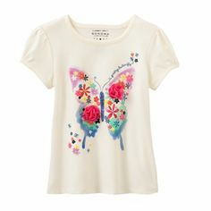 SONOMA life + style Floral Butterfly Tee - Toddler
