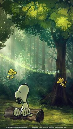 trees dressed in emerald green, kissed with sunlight's gold. Wallpaper Animes, Cute Wallpaper Backgrounds, Animes Wallpapers, Disney Wallpaper, Cute Wallpapers, Snoopy Images, Snoopy Pictures, Peanuts Cartoon, Peanuts Snoopy
