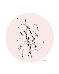 Print, splash on pink A4. Elina Dahl. shop.elinadahl.com