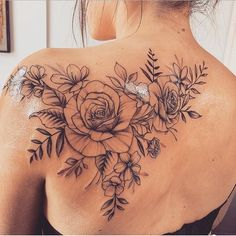 Looking for any cute small tattoos? Inside we have a gallery of small tattoos ranging from cute, to dainty, to even cheeky Back Tattoo Women Upper, Cover Up Tattoos For Women, Upper Back Tattoos, Tattoos For Women Flowers, Back Of Shoulder Tattoo, Shoulder Tattoos For Women, Flower Tattoo Shoulder, Feminine Shoulder Tattoos, Feminine Back Tattoos