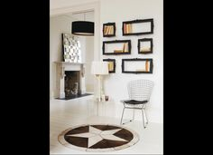 Very cool idea! Imagine brightly colored frames or white against a grey wall.