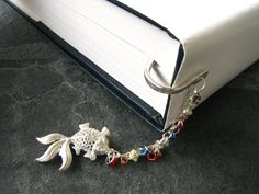 Rainbow Koi Fish Bookmark  Colorful Beaded by TonicAndLimeDesigns, $14.00
