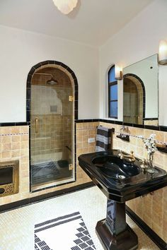 Traditional 3/4 Bathroom with Tuscany Chocolade Travertine, Frameless Shower Doors By Dulles Glass and Mirror