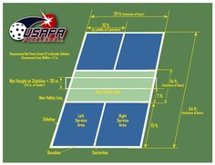 Pickle Ball court diagram