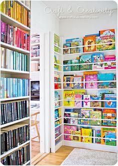 book display ideas nursery wonderful kids home design and interior library Childrens Book Shelves, Childrens Books, Kids Book Shelves, Organize Kids Books, Kid Books, Muebles Living, Kids Library, Library Books, Bookshelves Kids