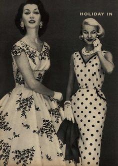 Dovima and Sunny Harnett for Toni Todd, Spring/Summer 1956.