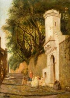 Algérie - Peintre Espagnol, Joseph SINTES(1829-1913),huile sur toile , Titre : Le mendiant