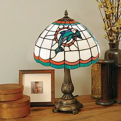 Miami Dolphins Tiffany Table Lamp (for Rudy of course)