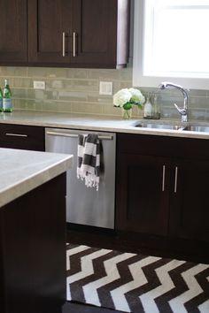 Suzie: Alexandra Berlin Design - Modern kitchen with espresso stained kitchen cabinets & ...