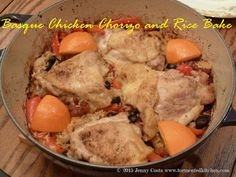 Tormented Kitchen: Basque Chicken Chorizo and Rice Bake Chorizo Rice, Chicken Chorizo, Basque Food, Chicken Rice Bake, Very Hungry, Rice Dishes, What To Cook, Poultry, Chicken Recipes