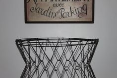 Vintage wire laundry basket by vintagewall on Etsy, $150.00