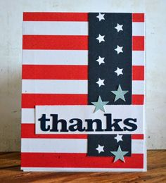 Teri Anderson - Paper Crafts & Scrapbooking blog - Moxie Fab World: make cards, patriotic, thanks