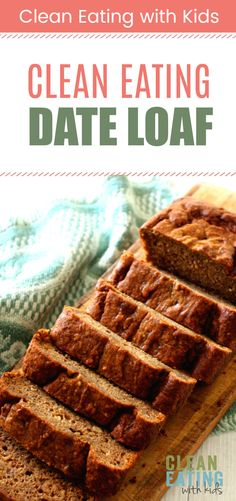 clean eating date loaf - only 1 tablespoon honey and no lumpy date bits!! #cleaneatingrecipe #dateandbananaloaf #dateloaf #datepudding
