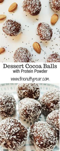 Cocoa Balls | Healthy Dessert | Almond Recipes | Coconut Oil Recipes |