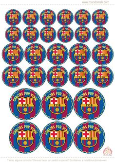 Mini Kit de Barcelona FC para cumple! Descarga gratis en www.mundomab.com #Mundomab Neymar Birthday, Soccer Birthday Parties, Birthday Tags, Boy Birthday, Neymar E Messi, Barcelona Soccer Party, Soccer Theme, Sports Party, Party Printables