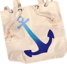 Nautical Canvas Tote Bag