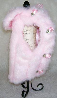 Pink Mink Faux Fur Satin Roses Dog Cat Coat The Pink Mink Coat