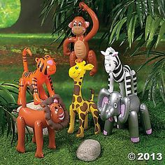 Photo Booth props....Jungle Safari 2 Ft. Zoo/Safari Inflates 6 Pk Party Supplies Canada