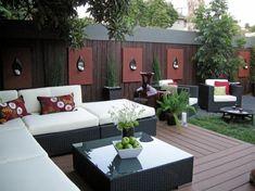 Daybed holz  moderne Ecke im Garten aus weißem Holz mit Vorhängen | Garten ...