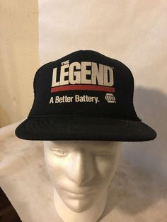 249fc54d687cc Vintage NAPA Legend Battery Black Kansas Snapback Foam Trucker Hat Cap  Retro  fashion  clothing