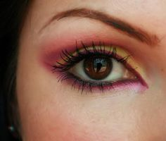 pink,yellow, violet