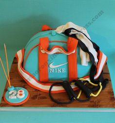 Nike Sport Bag - Cake by SofiaRouxinol