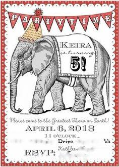 Circus Birthday Invitation 2