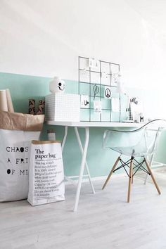 Paint your wall more than one color for an unexpected design element. Color blocking your walls is simple and chic. For more paint color ideas and interior inspiration, head to Domino.