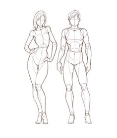 Female Anatomy Study of drawing lesson and tutorials with video front view