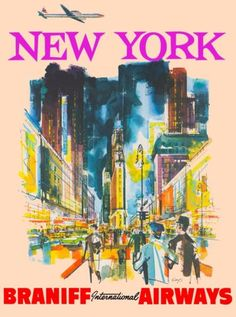New-York-Braniff-Airlines-United-States-America-Travel-Advertisement-Poster