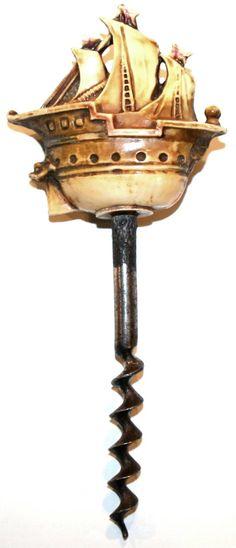 Celluloid Galleon Corkscrew