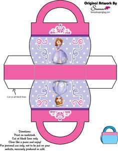 Box Favor Box ♥ Sofia the First Sofia The First Birthday Party, First Birthday Party Decorations, First Birthday Parties, Princess Sofia Party, Disney Princess Party, Toy Story Birthday, Toy Story Party, Princesa Sophia, Mickey Mouse Parties
