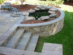 Related image garden ideas patio design, patio и patio steps Concrete Patios, Flagstone Patio, Brick Patios, Patio Edging, Curved Patio, Patio Steps, Garden Steps, Garden Bed, Small Backyard Patio