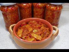 Reteta Zacusca de fasole pastai si dovlecei - YouTube Chicken Wings, Pasta, Food, Youtube, Preserves, Salads, Essen, Meals, Yemek