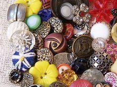 72 Pcs Vintage Antique Buttons Glass Blackglass Bakelite Metal etc LQQK | eBay