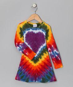 Purple Heart A-Line Dress #tiedye