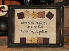Primitive Country Decor Stitchery - Patchwork