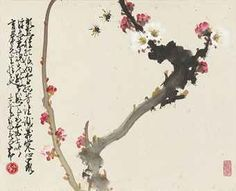 ZHAO SHAO'ANG (1905-1998)   Prunus and Bees/Cicada   CHINESE ...