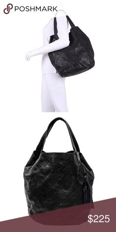 Day & Mood Sara patchwork Bag MY FAVORITE BAG EVER! I would keep this forever but sadly I must let it go...super soft leather. Slouchy look, lightweight large shoulder bag. Has a woven look to the leather, classic black. Day & Mood Bags Shoulder Bags