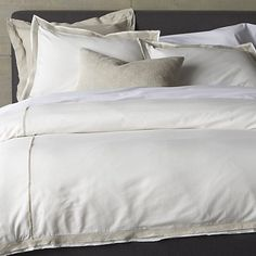 Bianca Bed Linens in All Decorative Bedding   Crate and Barrel