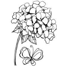 Jumbo Cling Stamp, Hydrangea Set