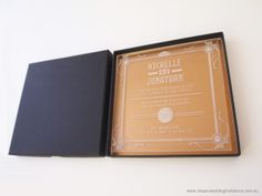 Acrylic wedding invitations - http://www.classicweddinginvitations.com.au/art-deco-acrylicinvitation/ - From $9.50