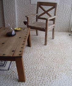 Java Tan pebble tile flooring