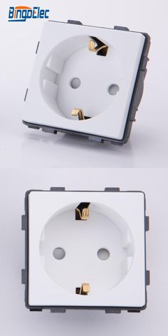 [Visit to Buy] white PC wall power germany socket part ,CE marks,to macth with frame  freely,110-250v,16a,Hot sale #Advertisement